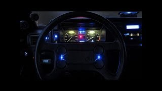 How To Install Vw Golf 2 / Jetta A2 Led Diy Car Steering Wheel Klaxon Horn Led Lights Vw