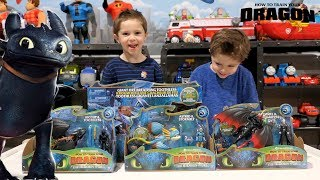 How to Train Your Dragon 3: The Hidden World. Dragon Master Hides New Toys Chase and Cole Adventures