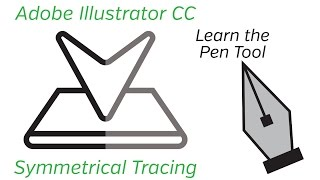 Adobe Illustrator Tutorial - Pen Tool and Symmetrical Tracing