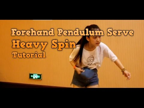 Table Tennis Tutorial: Forehand Pendulum Serve
