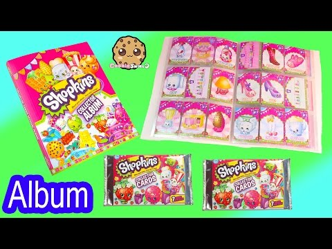 Shopkins Collector Cards Album Book With 2 Free Card Surprise Blind Bags - Unboxing Video
