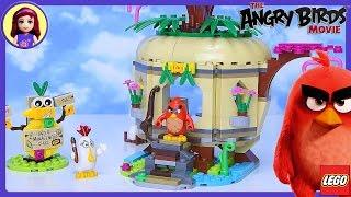 LEGO Angry Birds Movie Bird Island Egg Heist Build Review Play - Kids Toys