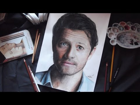 Миша Коллинз рисунок / Misha Collins drawing