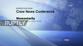 LIVE  Upcoming ISS crew holds pre flight conference in Houston
