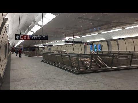 NYC Subway HD 60fps: Introducing 34th Street - Hudson Yards Terminal Station 9/13/15 Grand Opening