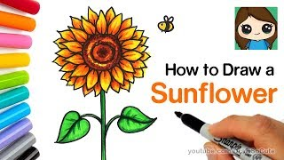 How to Draw a Sunflower Easy | Realistic