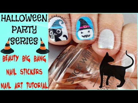 Halloween Party Series | Beauty Big Bang Halloween Stickers Nail Art Tutorial thumbnail