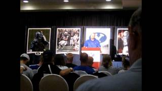 Bronco Mendenhall at the Big Blue Bash, 2012
