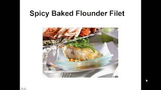 Paleo Recipes - Spicy Baked Flounder Fillet By A Former Diabetic