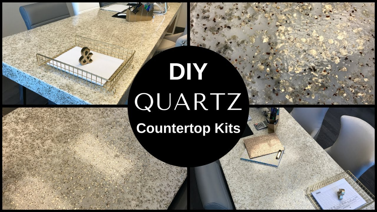 Diy 4 Quot Thick White And Silver Quartz Countertop Desktop