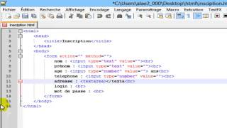 Créer un formulaire en HTML 5 - Tutoriel n° [3] - HD