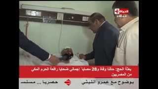 بالفيديو..الرئيس التنفيذي لبعثة الحج:  17 مصابا مصريا في كارثة «رافعة الحرم المكي» لا يزالون يتلقون العلاج
