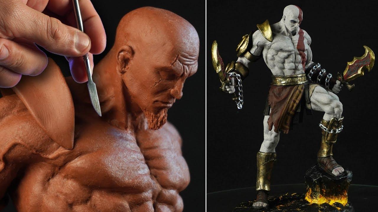 Sculpting KRATOS | God Of War III - Timelapse