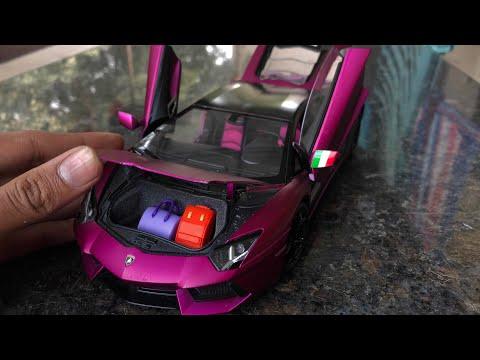Diecast Unboxing-2012 Lamborghini Aventador LP 700-4 1/18 Diecast Welly FX