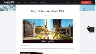 Black Desert Patch Notes for 14.3.18 Patch: Rabam