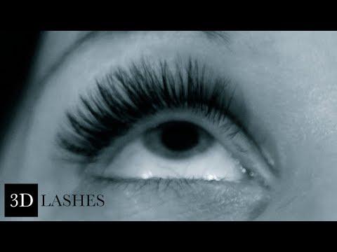 3D lashes & Volume lashes Eyelash extension technique - YouTube