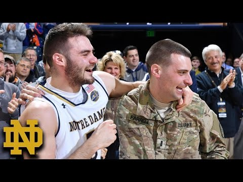 Notre Dame's Matt Farrell & Family Surprised By Military Brother