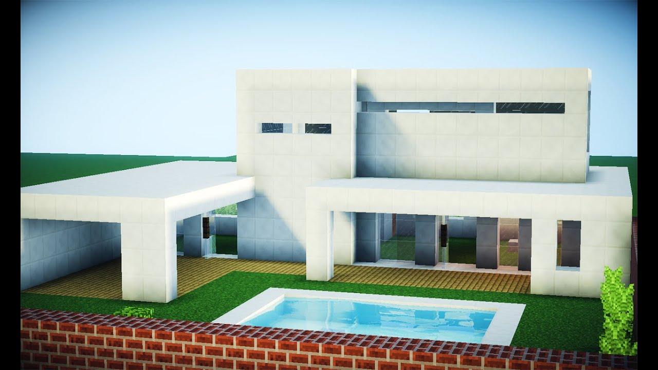 Minecraft como fazer uma casa moderna youtube for Casas modernas 6 minecraft
