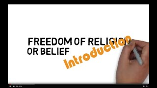 1. Introduction to Freedom of Religion or Belief
