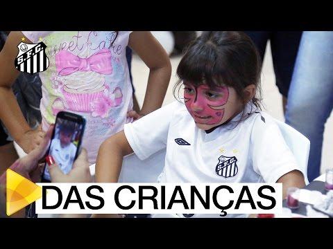 No dia de seu centenário, Vila Belmiro vira a Vila das Crianças