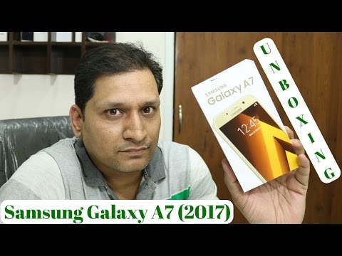 Samsung Galaxy A7 (2017) Unboxing !!!