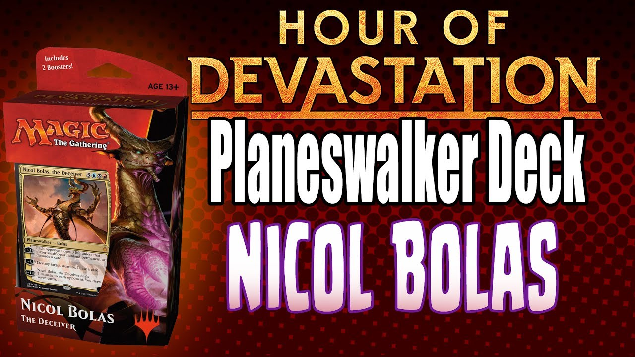 MTG - Hour of Devastation: 'Nicol Bolas' Planeswalker Deck Opening