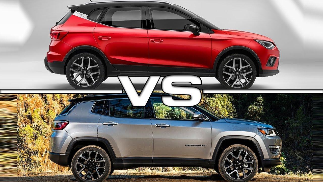 2018 seat arona vs 2017 jeep compass youtube. Black Bedroom Furniture Sets. Home Design Ideas