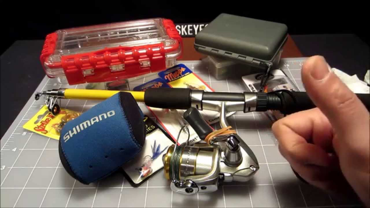 My backpacking fishing kit youtube for Backpacking fishing kit