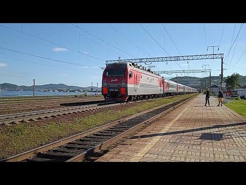 ЭП1П-014  с пассажирским поездом №114 Тихоокеанская-Хабаровск
