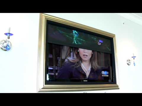 Malone Electrical Solutions - LED/LCD TV hidden behind a low profile picture frame.