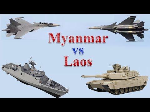 Myanmar vs Laos Military Comparison 2017