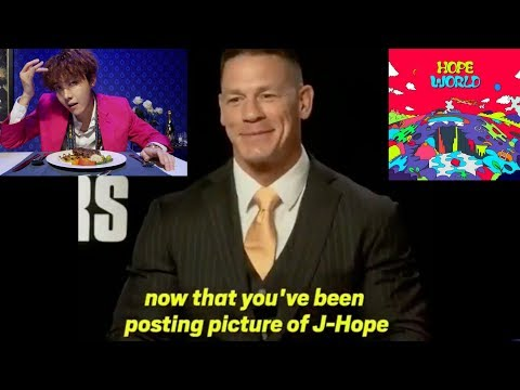 John Cena Interview About BTS J-Hope Mixtape & Confirms He is an ARMY