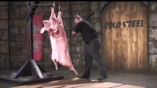 inilah pedang china yang bisa memotong 2 babi sekaligus !!!!
