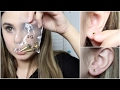 Stretching My Ears for the First Time Ear Stretching video 1