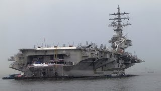 WATCH: USS Ronald Reagan docks in the Philippines for the first time