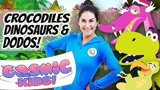 Yoga for Kids | Crocodiles, Dinosaurs and Dodos 🐊🦖🐥