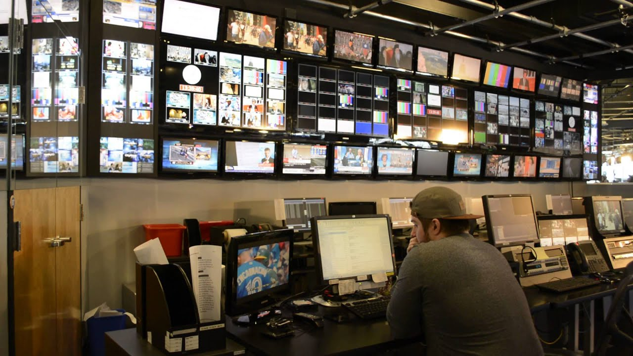 Hd Live Television Control Room With Engineer Backdrop Studio Free Youtube