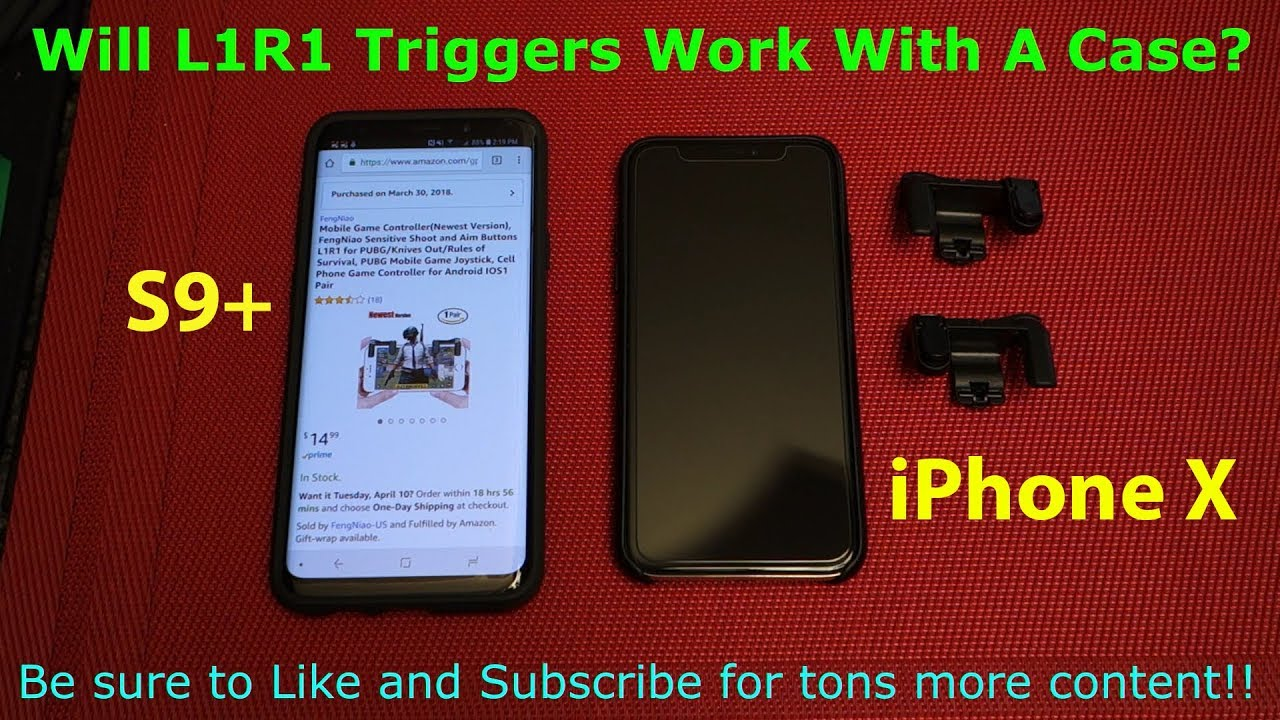 L1r1 Mobile Sharpshooter Triggers Will They Work With A Case L1 R1 Sharp Shooter Pubg Joystick Rule Of Survival Versi 3 Iphone X And Galaxy S9 Tested
