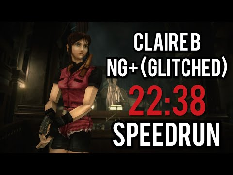 Resident Evil 2 Remake - Claire B NG+ (Glitched) - Speedrun [22:38]