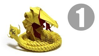 Part1/5 : How to fold Origami Devil Cobra / Hell Cobra 摺紙魔鬼眼鏡蛇教學