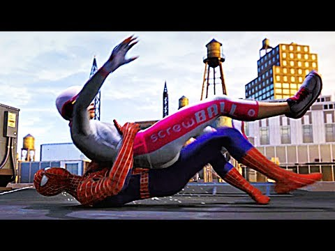 SPIDER-MAN PS4 Silver Lining DLC Screwball Gets Arrested Scene (SPIDERMAN PS4)