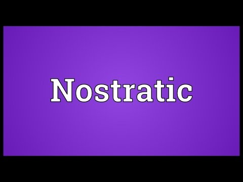Nostratic Meaning