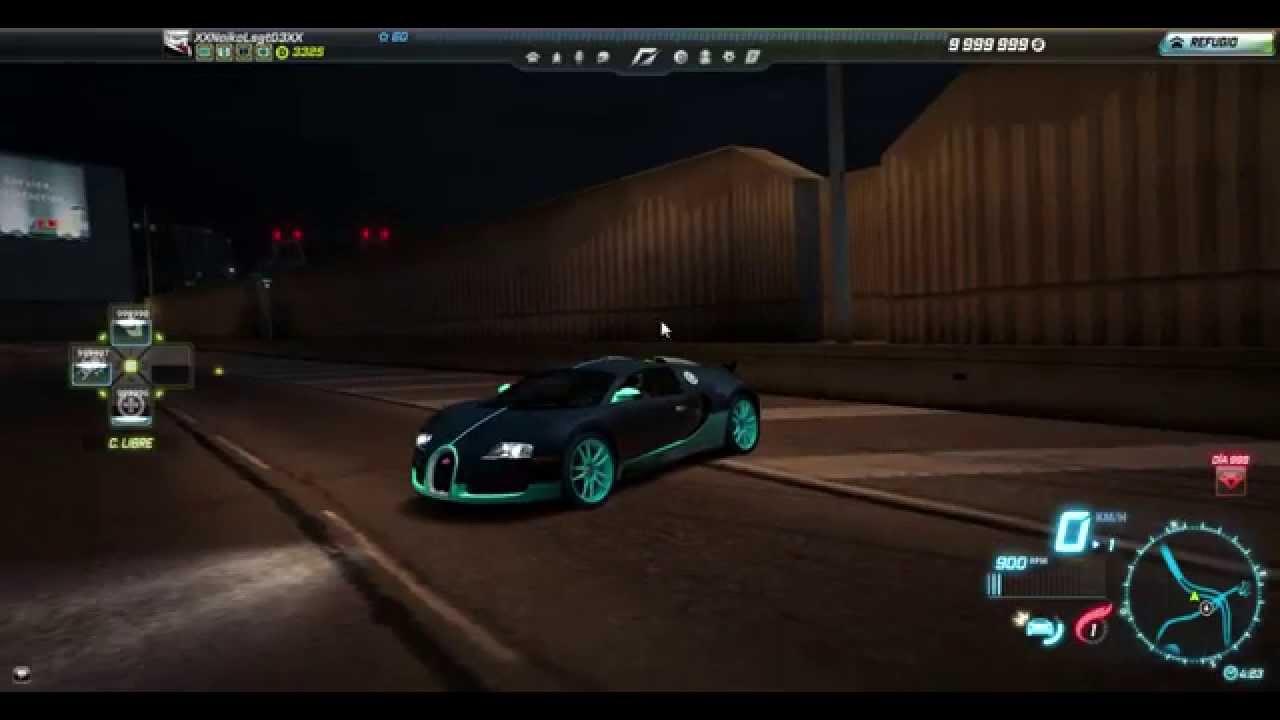nfs world offline bugatti veyron 16 4 velocidad maxima. Black Bedroom Furniture Sets. Home Design Ideas