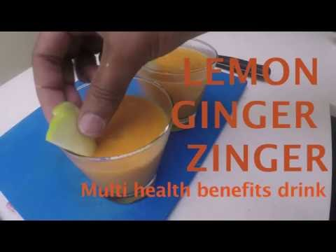 Lemon Ginger Zinger drink to reduce Belly Fat and Aids Weight Loss