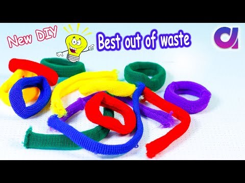 Best out of waste from old hair rubber bands| DIY crafts idea | Artkala 410
