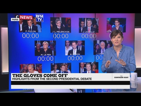Highlights from the second French presidential debate