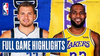 MAVERICKS at LAKERS | FULL GAME HIGHLIGHTS | December 1, 2019