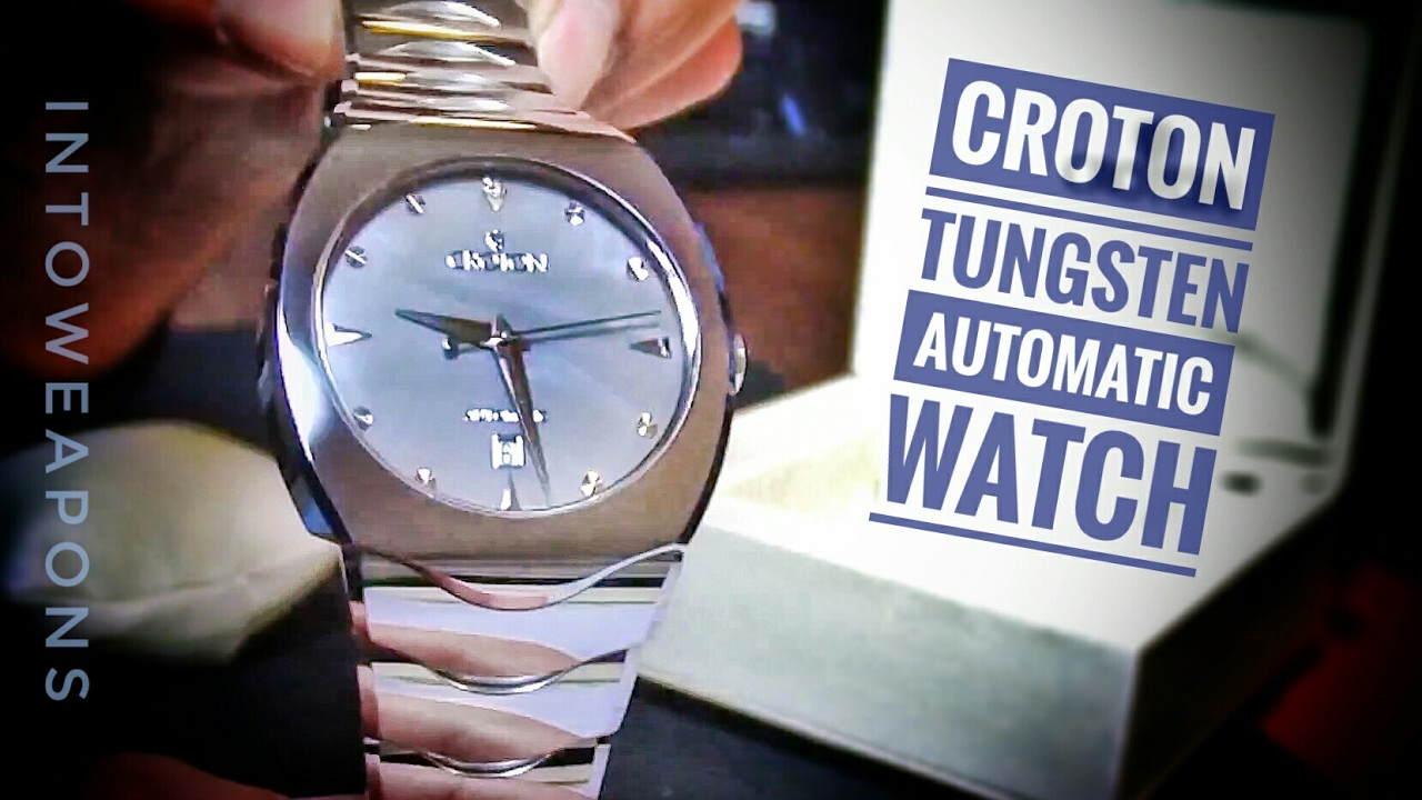 2daf4d6d1e9e61 Croton Men s Watch Review  Tungsten   MOP Automatic Watch - YouTube