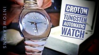 Croton Men's Watch Review: Tungsten & MOP Automatic Watch