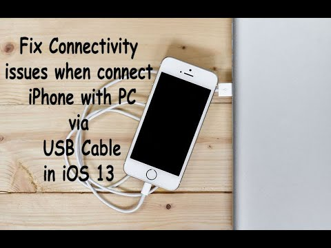 How To Fix If IPhone Not Connect With PC Via USB Cable In IOS 13